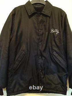 Vintage 1981's Rolling Stones Embroider Rock Concert Tour Black Jacket. Rare