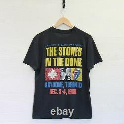 Vintage 1989 Rolling Stones Steel Wheels Brockum T-Shirt Size Small 80s Skydome