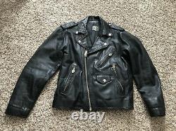 Vintage 1989 Rolling Stones Steel Wheels Leather Tour Jacket Size Medium VTG