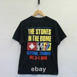 Vintage 1989 Rolling Stones Steel Wheels Tour Brockum T-Shirt Large 80s Band Tee