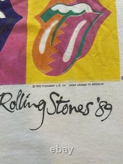 Vintage 1989 rolling stones the north american tour shirt Medium Mens