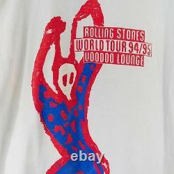 Vintage 1994 1995 Rolling Stones Voodoo Lounge Tour T-Shirt Size XL