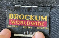 Vintage 1994 Rolling Stones Brockum Mens Button Up Jersey Shirt SZ XL Black N8