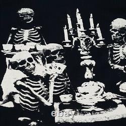 Vintage 1994 Rolling Stones Voodoo Lounge Tour Shirt Skeletons Playing Poker XL