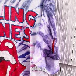 Vintage 1994 Rolling Stones Voodoo Lounge Tour Tie Dye Concert T-Shirt 90s XL