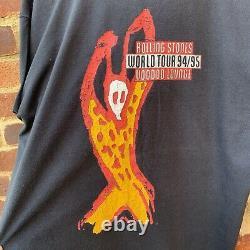Vintage 1995 Single Stitch Rolling Stones Voodoo Lounge Tour Graphic T-Shirt, XL