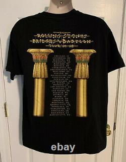 Vintage 1997 1998 Rolling Stones Bridges To Babylon Concert Tour T-Shirt Size XL