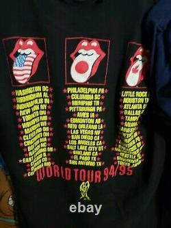 Vintage 2 Rolling Stones Voodoo Lounge 1994/95 Tour Concert T Shirt Sz L