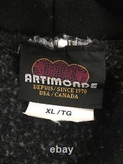 Vintage 2001 Rolling Stones Artimonde Sweatshirt Hoodie Size XL Black Rock Band