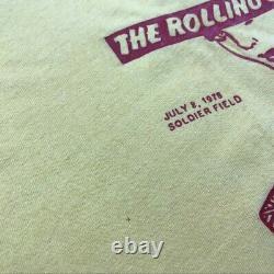 Vintage 70s The Rolling Stones Soldier Field Promo Tour T-shirt