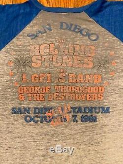 Vintage 80s 1981 THE ROLLING STONES Dragon American Rock Concert Tour T SHIRT XL