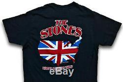 Vintage 80s 1981 THE ROLLING STONES North American Rock Concert Tour T SHIRT M L