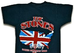 Vintage 80s 1981 THE ROLLING STONES North American Rock Concert Tour T SHIRT S