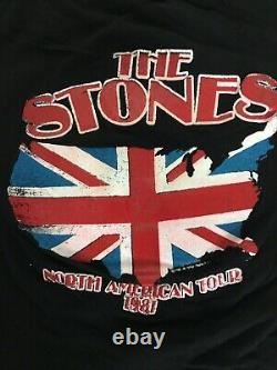 Vintage 80s Rolling Stones Tshirt Size Medium Tasty North American Tour