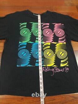 Vintage 80s The Rolling Stones Concert T Shirt Sz S 1989 North American Tour