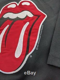 Vintage 90s 1994 Bockrum Rolling Stones Hockey Jersey Large voodoo lounge tour