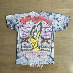 Vintage 90s'94 Rolling Stones Voodoo Lounge World Tour T Shirt Tie Dye L Rare