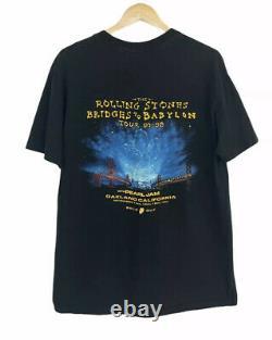 Vintage 90s Rolling Stones Tour T Shirt XL Bridges To Babylon 97-98 Pearl Jam