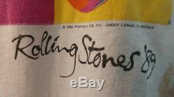Vintage Authentic Rolling Stones 1989 Steel Wheels Tour Concert T Shirt