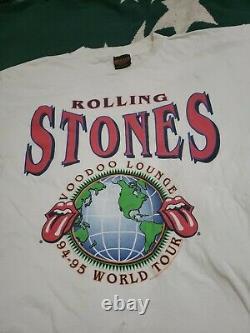 Vintage Brockum Rolling Stones Voodoo Lounge 1994 1995 World Tour Band Shirt L