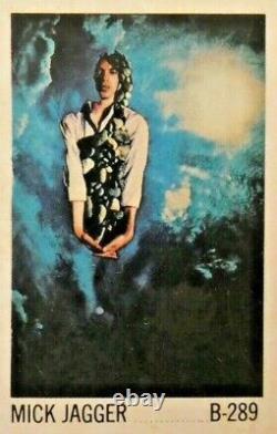 Vintage NOS 1969 Mick Jagger Poster Unopened In Original Plastic