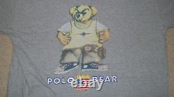 Vintage POLO RALPH LAUREN BEAR Rapper T-Shirt LARGE Hip Hop Kanye Run DMC Chance