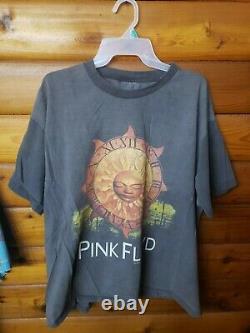 Vintage Pink Floyd bootleg 90's reprint Sun Dial 1994 rolling stones nirvana tee