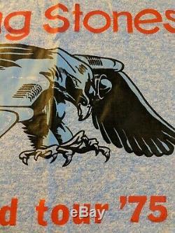 Vintage ROLLING STONES 1975 WORLD TOUR Concert Tour TANK TOP. NM. Extra Large