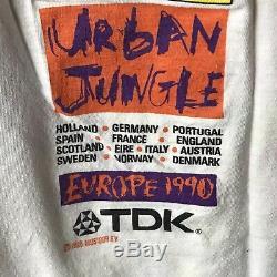 Vintage ROLLING STONES 1990 Urban Jungle European Tour Men's T-Shirt size L