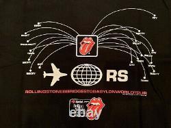 Vintage ROLLING STONES 1997 BRIDGES TO BABYLON WORLD TOUR CONCERT T SHIRT MENS L