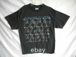 Vintage ROLLING STONES T-SHIRT 1989 Steel Wheels Concert Brockum Size XL