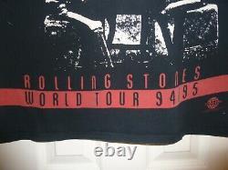 Vintage Rare 90s ROLLING STONES Voodoo Lounge World Tour Concert T-Shirt XL USA
