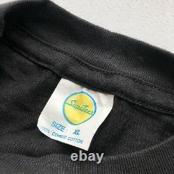Vintage Rolling Stone Urban Jungle 1990 Black T-Shirt Mens XL