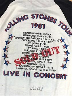 Vintage Rolling Stones 1981 Tour shirt T-Shirt Large L Band Rock n roll Metal