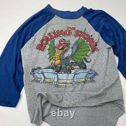 Vintage Rolling Stones 1981 World Tour Concert T Shirt Large Texas Sold Out Rare