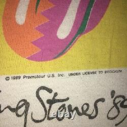 Vintage Rolling Stones 1989 The North American Tour Concert T Shirt L USA