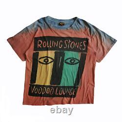 Vintage Rolling Stones 1994 Voodoo Lounge Tour 90s Tie Dye Brockum T-shirt XL