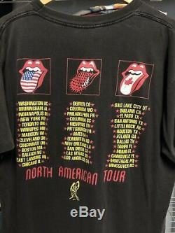 Vintage Rolling Stones 1994 Voodoo Lounge Tour T-Shirt XL Brockum Faded! Worn