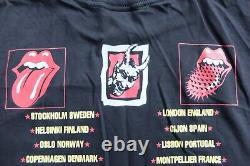 Vintage Rolling Stones 90s Voodoo Lounge 1995 tour XL Black t-shirt Brockum band