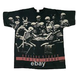 Vintage Rolling Stones 94/95 World Tour Voodoo Lounge All Over Print T-Shirt XL