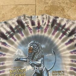 Vintage Rolling Stones Bridges To Babylon Tie Dye Tour T-Shirt 1997 Size XL