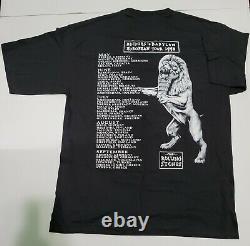 Vintage Rolling Stones Bridges to Babylon 1997 Europe Tour Black T-shirt Large