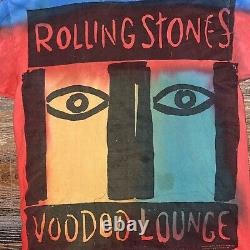 Vintage Rolling Stones Conce Tour Voodoo Lounge 1994 1995 Shirt Brockum Size XL