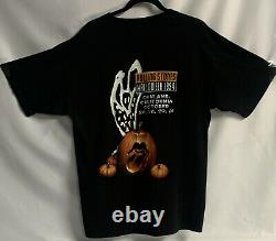 Vintage Rolling Stones Halloween Fangs Oakland Halloween 90s T Shirt Large XL