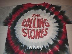Vintage Rolling Stones Liquid Blue Double Sided Tie Dye XL T-Shirt