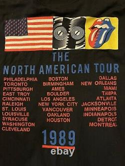 Vintage Rolling Stones North American Tour 1989 Shirt Size L