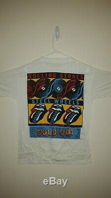 Vintage Rolling Stones Steel Wheels 1989 Tour Shirt