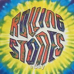Vintage Rolling Stones T-Shirt 1994 Size XL Tie Dye Brockum Single Stitch Rock