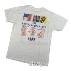 Vintage Rolling Stones T Shirt Guns Roses Steel Wheels Tour Mens XL 1989 Single