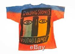 Vintage Rolling Stones Voodoo Lounge 1994 All Over Print Tie Dye T Shirt XL